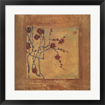 Framed Chinese Blossoms I Print