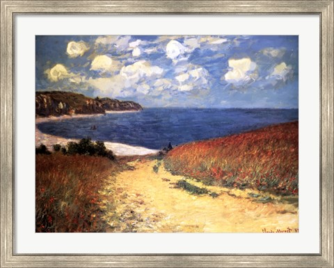 Framed Meadow Rd. to Pourville Print
