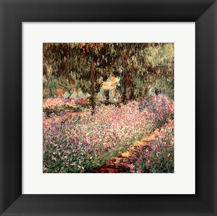Framed Artist's Garden at Giverny, c.1900 (detail) Print