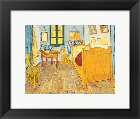 Framed Bedroom at Arles Print