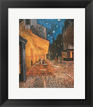 Framed Open Air Cafe Print