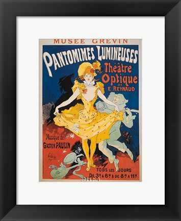 Framed Pantomimes Lumineuses Print