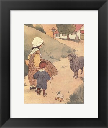 Framed Baa, Baa, Black Sheep Print