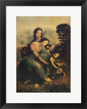 Framed Virgin, Child, and St. Anne Print
