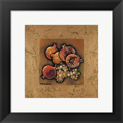 Framed Pomegranates and Grapes Print