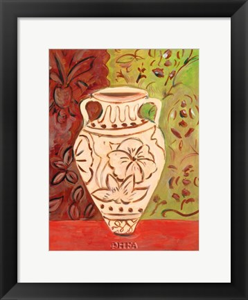 Framed Lotus Pot II Print