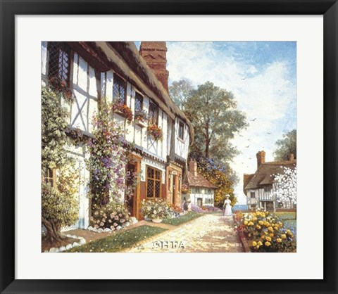 Framed Promenade of Flowers Print