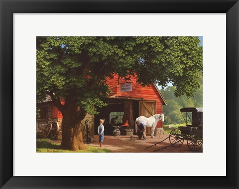 Framed Horse and Buggy Days Print