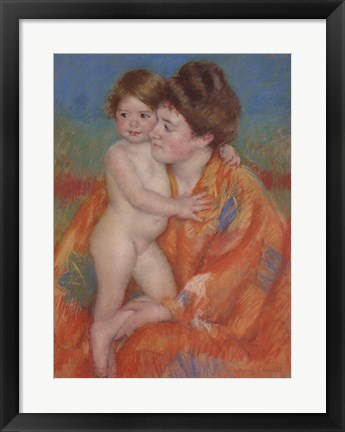 Framed Woman with Baby Print
