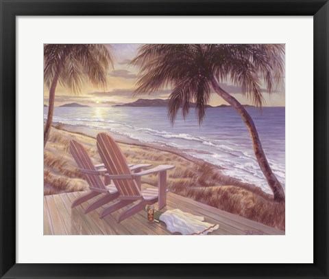 Framed Coastal Crescendo Print