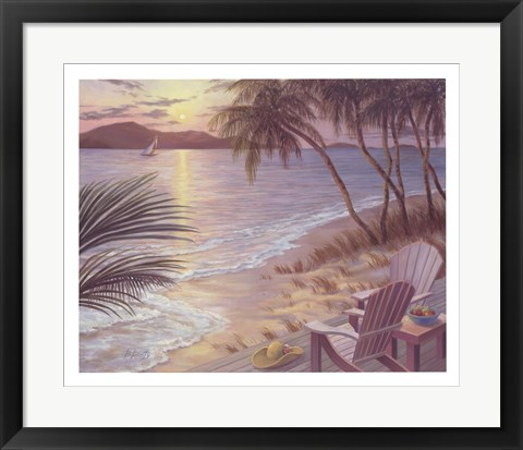 Framed Serenade of Waves Print