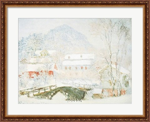 Framed Sandvicken, Norway Print