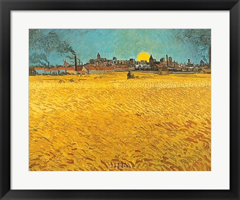 Framed Cornfields Near Arles Print