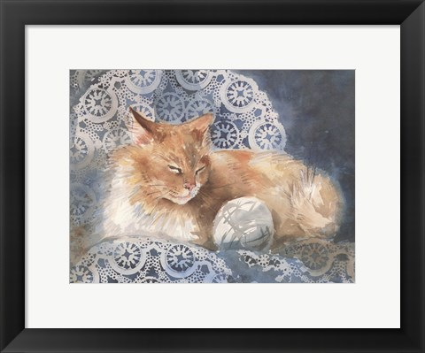 Framed Punkin the Cat Print