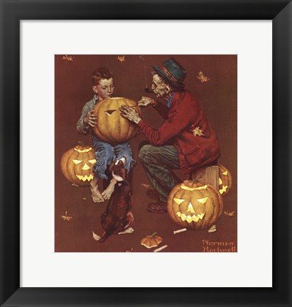 Framed Ghostly Gourds Print
