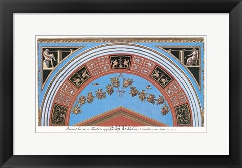 Framed Detail/Loggia in the Vatican III Print