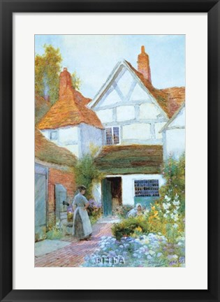 Framed Cottage Garden Print