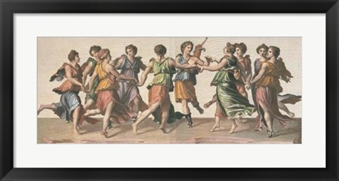 Framed Dance of the Muses Print