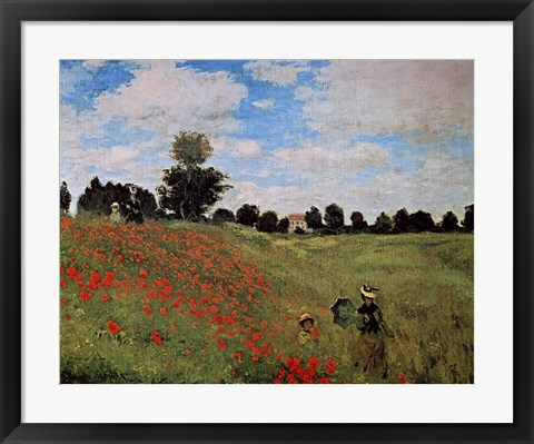 Framed Corn Poppies Print