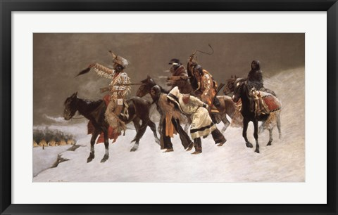 Framed Return of the Blackfoot War Party Print
