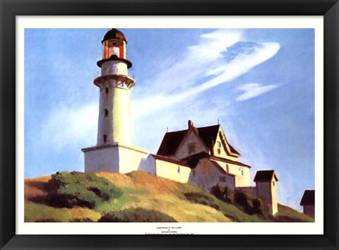 Framed Lighthouse at Two Lights Print