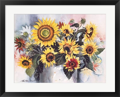 Framed Country Sunflowers Print