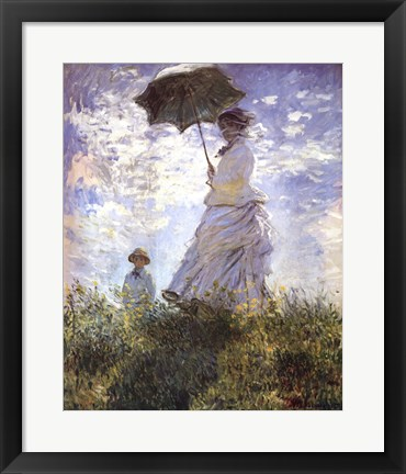 Framed Madame Monet and Her Son Print