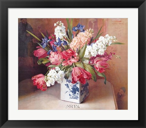 Framed Tulips and Stock Print