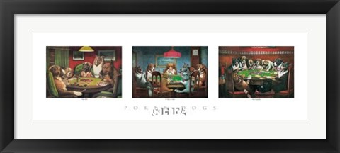 Framed Poker Dogs Print