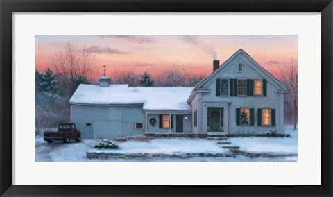 Framed Farmhouse Sunset Print