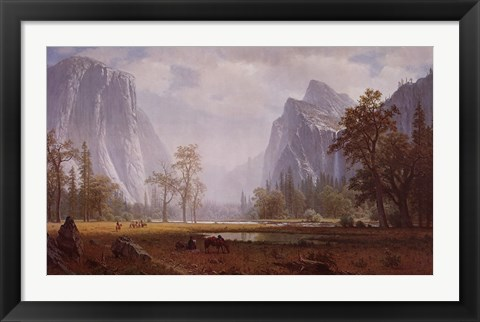 Framed Looking Up The Yosemite Valley Print