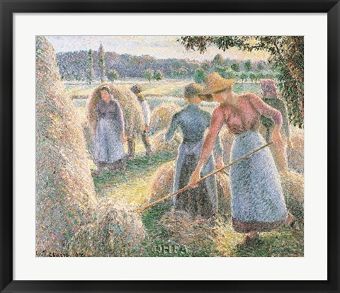 Framed Haymakers, Evening, Eragny Print