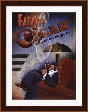 Framed Fat City Cigar Lounge Print