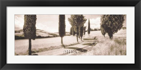 Framed Road Through Tuscany Print