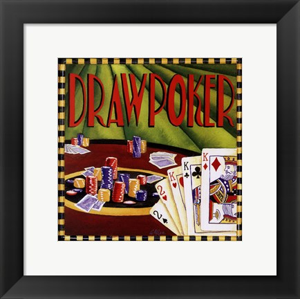 Framed Draw Poker Print
