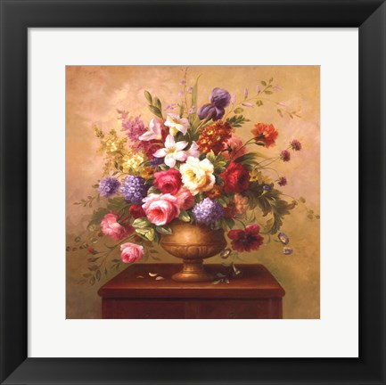 Framed Heirloom Bouquet I Print