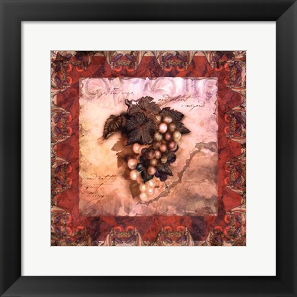 Framed Tuscany Grapes Print