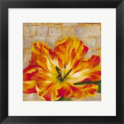Framed Fabric Floral Two Print