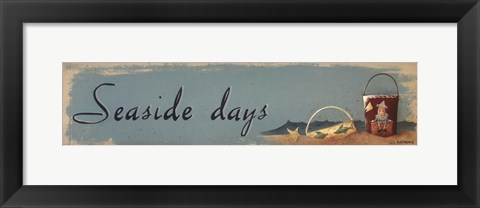 Framed Seaside Days Print
