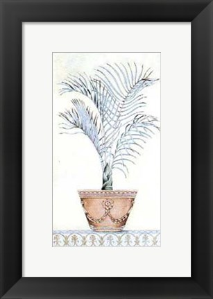Framed Palm Topiary I Print
