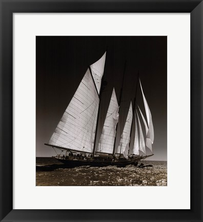 Framed Sailing at Cowes II Print