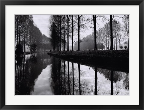 Framed Canal, Normandy Print