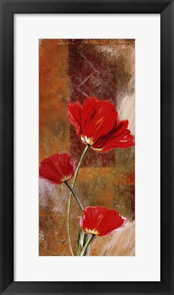 Framed Three Tulips Print