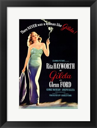 Framed There Was Never a Woman Like Gilda Print