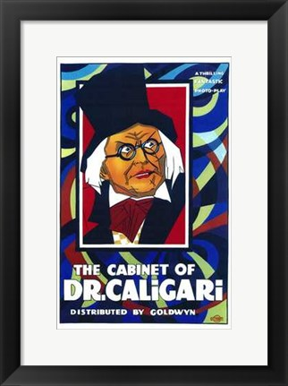 Framed Cabinet of Dr Caligari - man with glasses Print