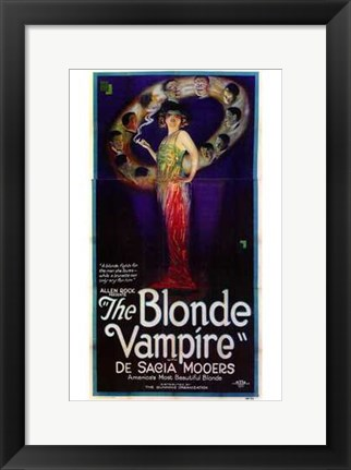 Framed Blonde Vampire Print