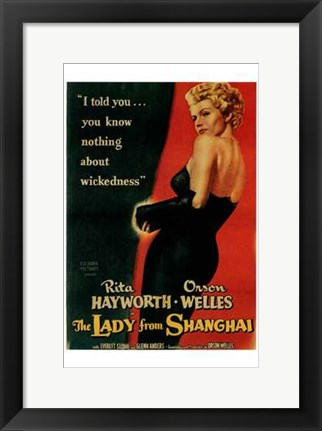 Framed Lady from Shanghai, c.1948 Print