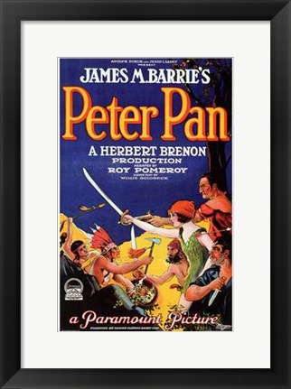 Framed Peter Pan by James M. Barrie (book cover) Print