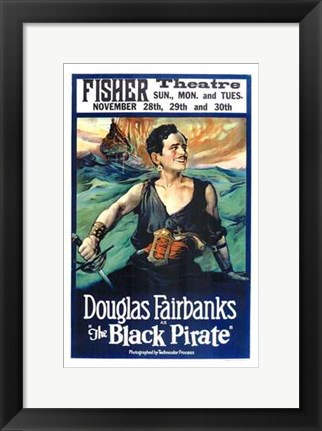 Framed Black Pirate Print