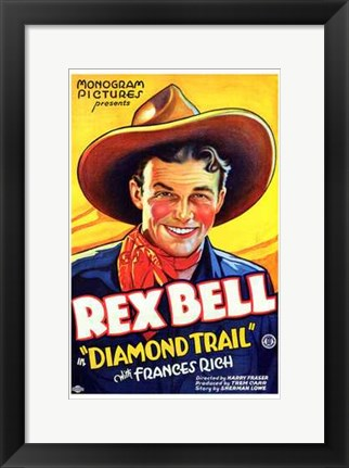 Framed Diamond Trail Print